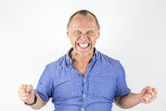 Angry and furious man portrait. Royalty Free Stock Photo