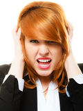 Angry furious woman screaming Royalty Free Stock Image