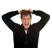 Angry, furious young man Royalty Free Stock Photography
