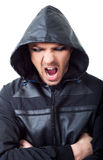 Angry gangster hood screaming Royalty Free Stock Photography