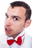 Angry geek man face Royalty Free Stock Images