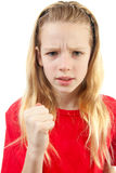 Angry girl Stock Images