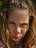 Angry girl Royalty Free Stock Photo