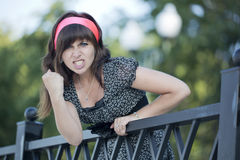 The angry girl Royalty Free Stock Photo