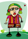 Angry girl. Colorful illustration of angry little girl Royalty Free Stock Photography