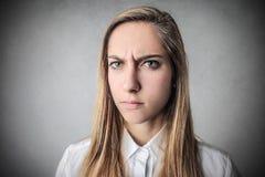 angry girl Στοκ εικόνες με δικαίωμα ελεύθερης χρήσης