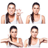 Angry girl composite Royalty Free Stock Photos