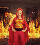 Angry girl in costume Royalty Free Stock Photo