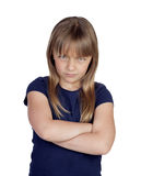 Angry girl with crossed arms Royalty Free Stock Image