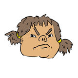 Angry girl face Royalty Free Stock Images