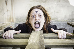 Angry girl gothic Stock Images