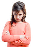 Angry girl isolated on white Stock Photos