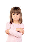 Angry girl isolated on a white background Stock Images