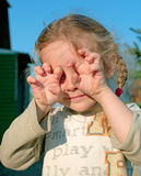 Angry girl Stock Image
