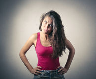 Angry girl Royalty Free Stock Photography