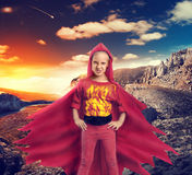 Angry girl in mountains Royalty Free Stock Images