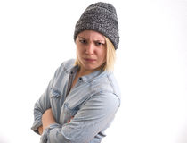Angry girl portrait Stock Images