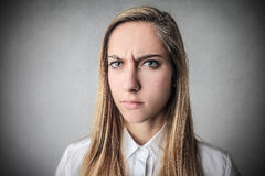 Angry girl Royalty Free Stock Images