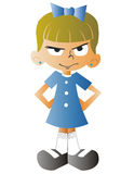 Angry girl with at school Royalty Free Stock Photo