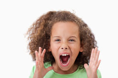 Angry girl screaming Royalty Free Stock Photos