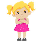 Angry Girl stock illustration