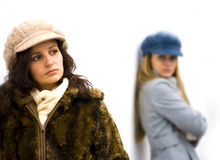Angry girls Royalty Free Stock Photos