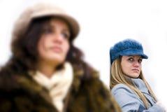 Angry girls Stock Image