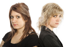 Angry girls Royalty Free Stock Photography