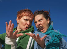 Angry Girls Having Quarrel Royalty Free Stock Photography
