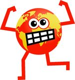 Angry globe royalty free illustration