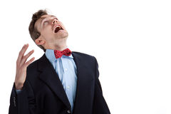 Angry at the gods Royalty Free Stock Photo