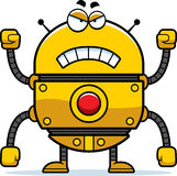 Angry Gold Robot Royalty Free Stock Images
