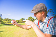 Angry Golf Stock Images