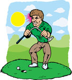 Angry golfer Stock Photos
