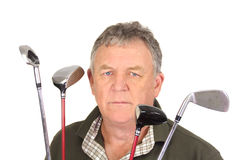 Angry Golfer Royalty Free Stock Image