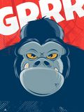 Angry gorilla background royalty free illustration