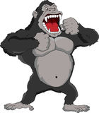 Angry gorilla cartoon Royalty Free Stock Images