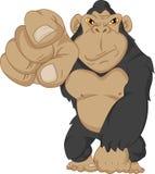 Angry gorilla cartoon Stock Photos