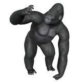 Angry gorilla - 3D render Stock Images