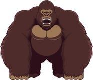 Angry gorilla. Angry ferocious gorilla, vector illustration Royalty Free Stock Photos