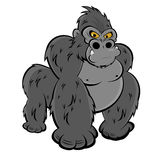 Angry gorilla stock illustration