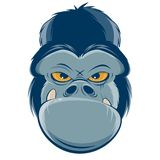 Angry gorilla head clipart. Clipart of an angry gorilla head stock illustration