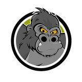 Angry gorilla icon royalty free illustration