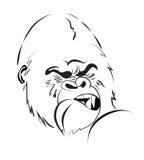 Angry gorilla Stock Photo