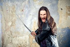 Angry goth Stock Photo