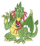 Angry Green Dragon Stock Image