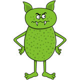 Angry green monster Royalty Free Stock Photos