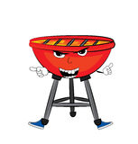 Angry grill cartoon Stock Image