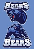 Angry grizzly bear mascot Royalty Free Stock Images