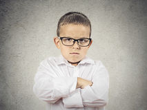 Angry, grumpy Boy Royalty Free Stock Images